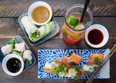 Dumplings, Sommerrollen en sushi bij Akemi