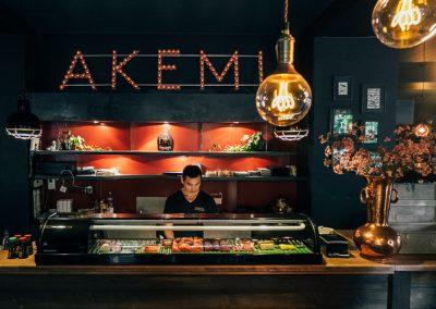 Alle sushi bij Akemi in Prenzlauer Berg wordt vers bereid