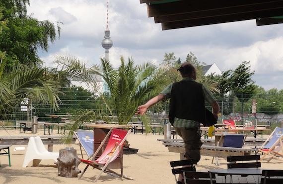Strandbars in Berlijn