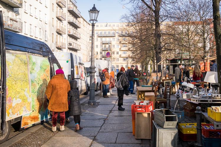 Arkonaplatz vlooienmarkt; onterecht onbekend