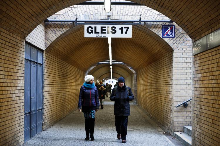Het Gleis 17 monument op station Grunewald